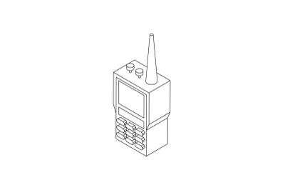 Radio set icon, isometric 3d style