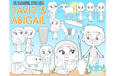 David and Abigail Digital Stamps - Lime and Kiwi Designs