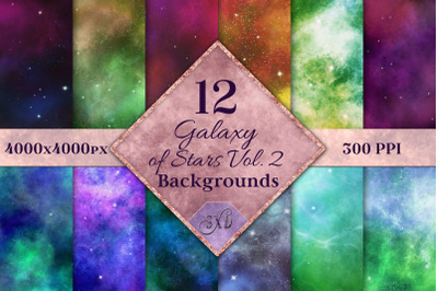 Galaxy of Stars Vol. 2 Backgrounds - 12 Image Textures Set