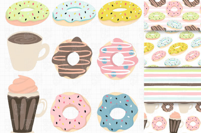 Cute Donut Graphic Set EPS,SVG,PNG and JPEG