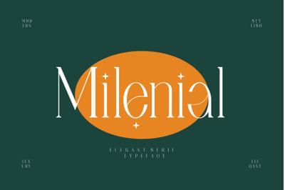 Milenial Serif Typeface
