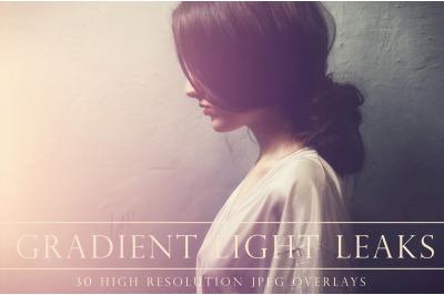 Light leak gradient photoshop overlays