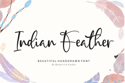 Indian Feather Beautiful Handdrawn Font