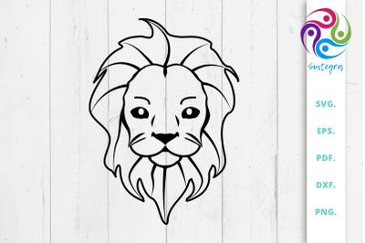 Cute Lion Cub SVG File