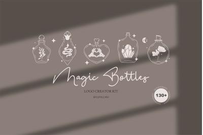 Magic & mystery. Alchemy bottles.