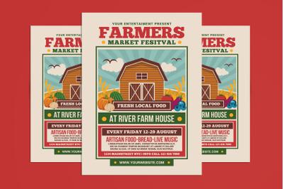 Farmer Market Festival Flyer