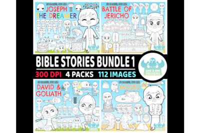 Bible Stories Digital Stamps Bundle 1 - Lime and Kiwi Designs