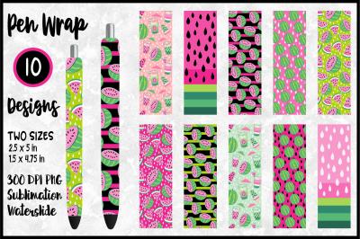 Pink Watermelon Pen Wrap Bundle for Sublimation / Waterslide