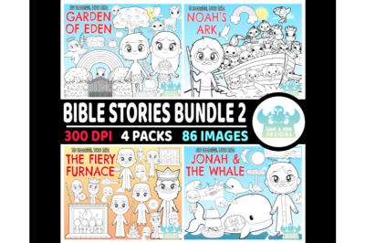 Bible Stories Digital Stamps Bundle 2 - Lime and Kiwi Designs