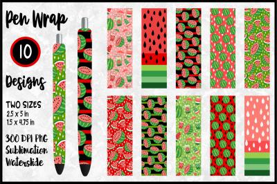 Red Watermelon Pen Wrap Bundle for Sublimation / Waterslide