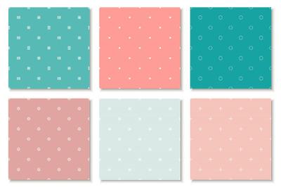 Colorful minimalistic patterns