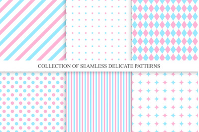 Delicate seamless patterns