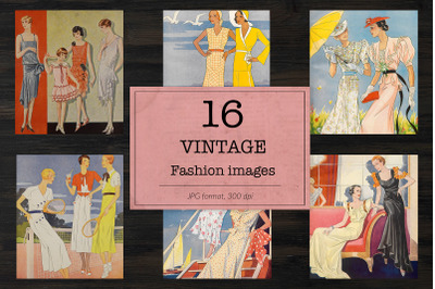 Women's dresses illustrations