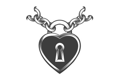 Heart Shaped Lock Chains Tattoo