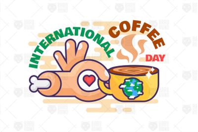 International Coffee Day Illustration