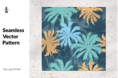 Tropical palm tree seamless pattern