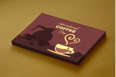 Retro International Coffee Day Illustration