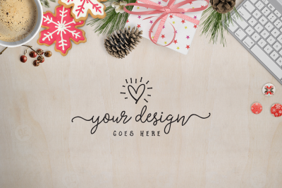 Holiday Desktop Scene with copy space