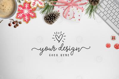 Styled Desktop Scene for Christmas