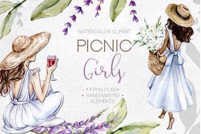 Watercolor Picnic Fashion Girls