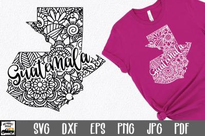 Guatemala SVG File - Guatemala Mandala Design