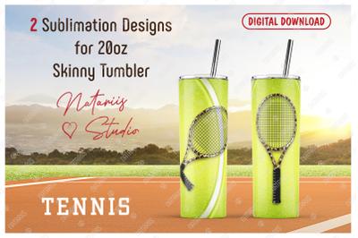 2 Realistic Tennis Patterns for 20oz SKINNY TUMBLER.