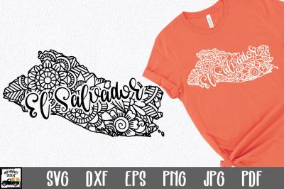 El Salvador SVG File - El Salvador Mandala Design