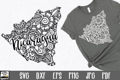 Nicaragua SVG File - Nicaragua Mandala Design