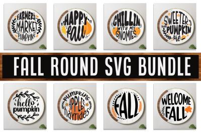 Fall Round SVG Bundle