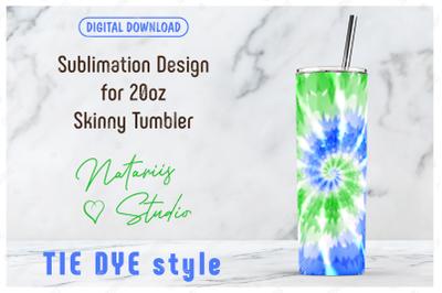 Tie Dye Seamless pattern for 20oz SKINNY TUMBLER.