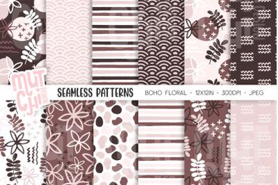 Boho Floral Seamless Patterns