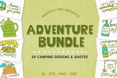 Adventure Bundle | 20 Camping Quotes SVG