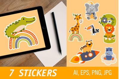 Safari animals - stickers