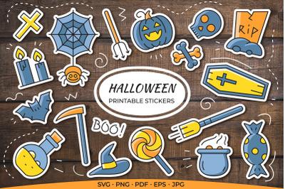 Halloween Printable Stickers / Cricut Design