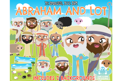 Abraham and Lot Clipart - Lime and Kiwi Designs