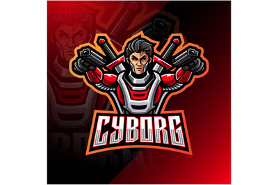 Cyborg esport mascot logo design