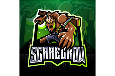 Scarecrow esport mascot logo design
