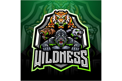 Wild animal esport mascot logo
