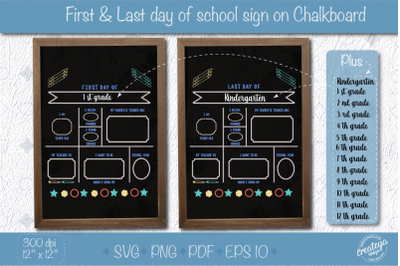 First Day of School SVG for dry erase board, Last Day of School svg, B