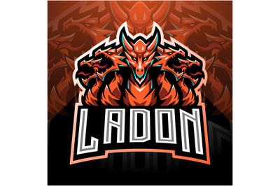 Ladon esport mascot logo design