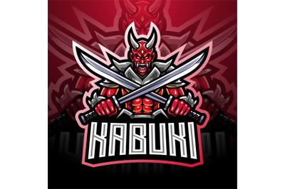 Kabuki esport mascot logo design