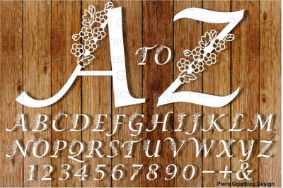 Alphabet and Numbers with flowers SVG and PNG files.