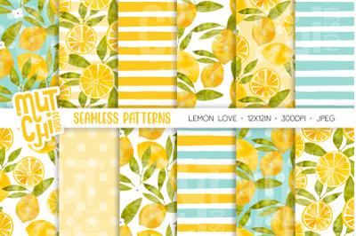 Lemon Love Seamless Patterns