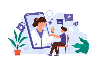 Online Doctor Smartphone Screen Consultation Coronavirus Pandemic Edit