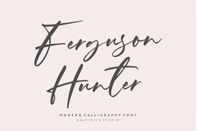 Ferguson Hunter Modern Calligraphy Font