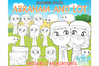 Abraham and Lot Digital Stamps - Lime and Kiwi Designs
