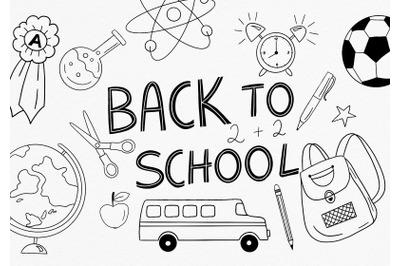 Back to SCHOOL Doodles PNG