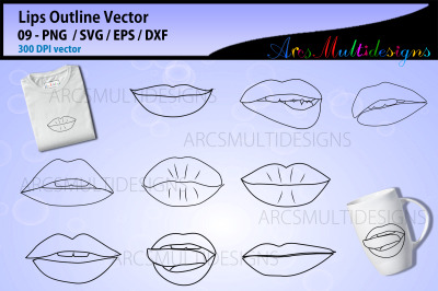 lips silhouette and outline