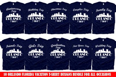 Orlando Florida Vacation T-Shirt Design SVG Bundle