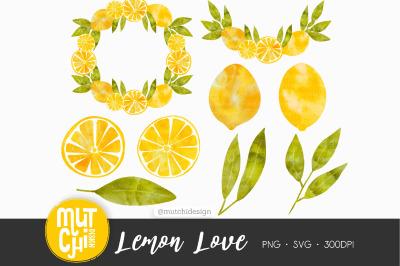 Watercolor Lemon Cliparts